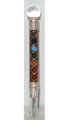 Mini Copper 7 Chakra Healing Magic Wand Wicca Wiccan Pagan Religious Ritual Witch