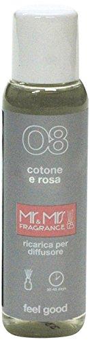 Mr&Mrs easy fragrance 008 Italia cotone e rosa 詰め替えボトル100ml