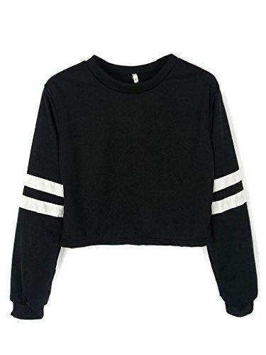 joeoy-womens-casual-striped-long-sleeve-crop-top-sweatshirt-black-s