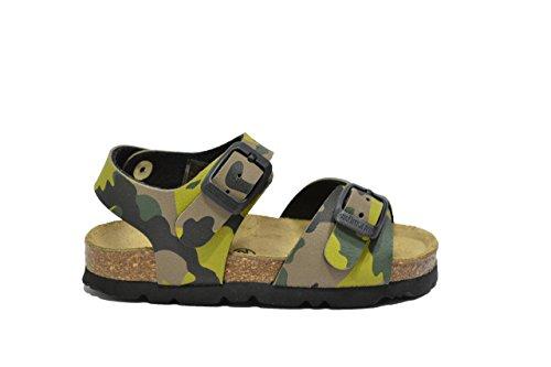 Grunland Sandali militare kaki scarpe bambino SB0169 24