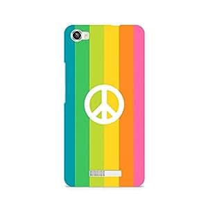 Ebby Colorful Peace Premium Printed Case For Lava Iris X8
