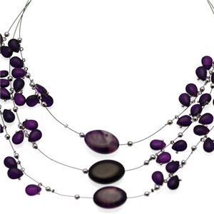 Lilith Silver Purple Choker Necklace