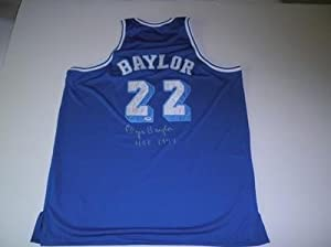 Elgin Baylor Autographed Jersey - F20686 - PSA DNA Certified - Autographed NBA... by Sports+Memorabilia