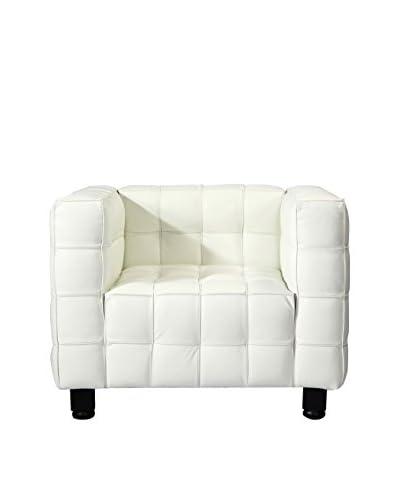Kardiel Josef Mid-Century Modern Armchair, White