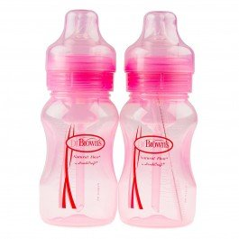 Dr. Brown'S 4Oz. Wide Neck Bottles In Pink, 2-Pack front-8080