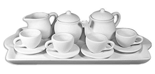 14 Piece Children's Tea Party Set - Paint Your Own Ceramic Keepsake (Make Your Own Tea Set compare prices)