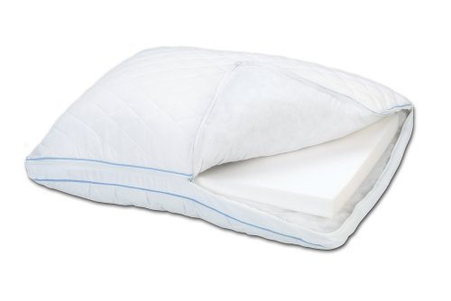 Sleep innovations extra comfort memory foam grande pillow for Comfort pillows for sleep
