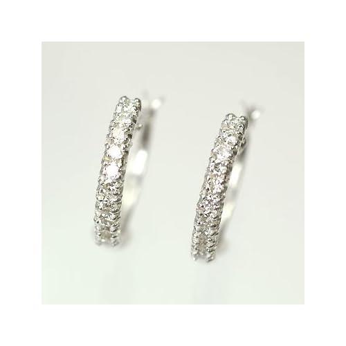 [キュートジュエリー]Cute jewerly ダイヤモンドピアス ダイヤ0.3ct×ホワイトゴールド エタニティーピアス