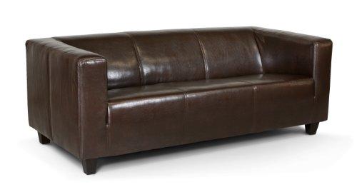 B-famous-3-Sitzer-Sofa-Kuba-186-x-88-cm-Kunstleder-braun