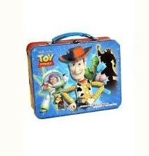 Disney 2010 Toy Story Carry all Tin Box - Woody And Buzz Lunch Box