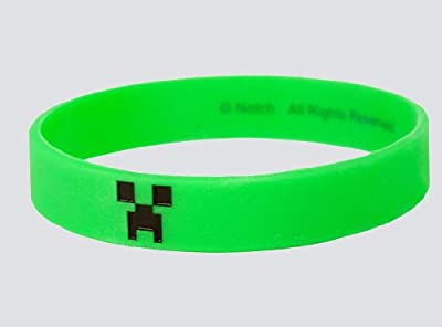 Official Licensed Minecraft Creeper Bracelet Size Medium Kids Under 14 by Jinx