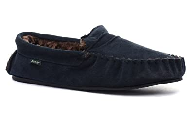 Dunlop Everett Homme Moccasin Chaussons, Marine, Pointure 41