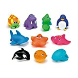 Toy Game Awesome Munchkin Ten Squirtin Sea Buddies with Whale, Penguin, Starfish And Other Sea Creatures Kid Child Play