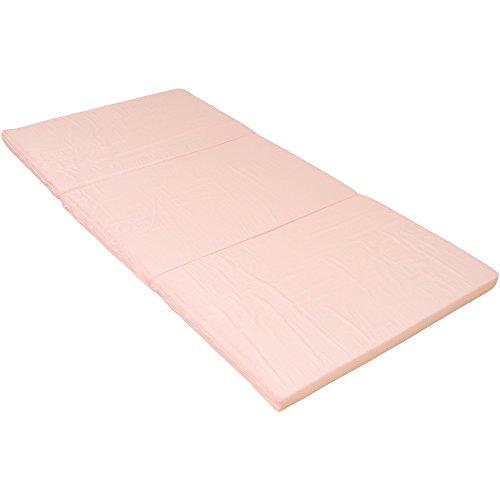 国産 三つ折り マットレス シングル ピンク