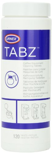 Urnex Tabz 120 Tablet Coffee Brewer Cleaning Tablets, White