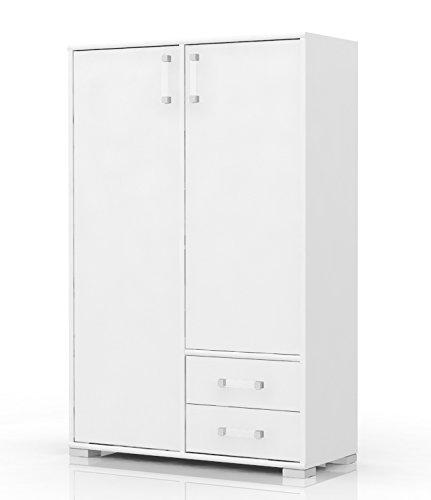 Kommode 27, Farbe: Weiß - Abmessungen: 134 x 86 x 37 cm (H x B x T)
