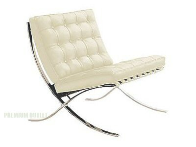 Barcelona Chair By Mies Van Der Rohe   White Leather (single Seat) ...