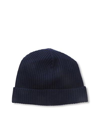 Portolano Men's Ribbed Hat Knit Skull Cap, Navy