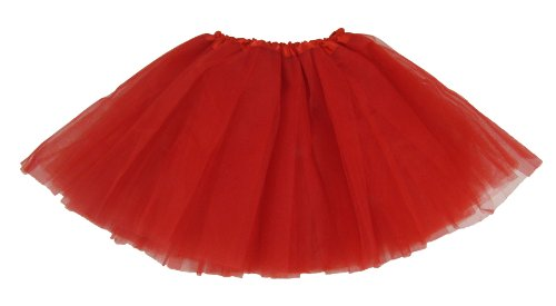Hairbows Unlimited Girls' Dance Tutu One Size Red front-971339