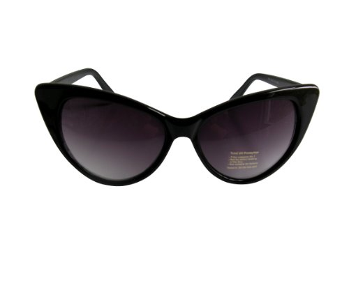Sunglasses Marilyn 1950's Cool Cat Style Black Frames images
