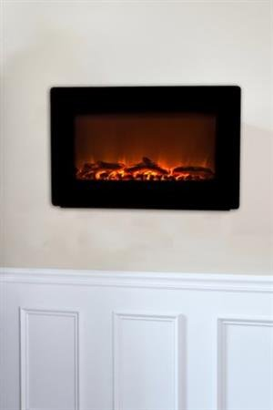 Fire Sense Black Wall Mounted Electric Fireplace - Dsd533169