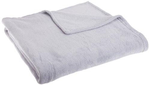 Joseph Abboud Solid Coral Fleece Throw Blanket, Full/Queen, Grey