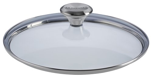 Le Creuset of America Paella Pan Glass Lid with Steam Vent, 13 1/2