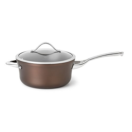 Calphalon 1877073 Contemporary Nonstick Bronze Anodized Edition Dishwasher Safe Sauce with Cover, 4.5-Quart