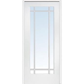 National Door Z009310r Primed Wood Prehung In Swing Interior Door Clear Glass 9 Lite Right
