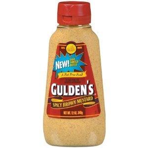 Gulden's, Spicy Brown Mustard, 12oz Bottle (Pack of 2) : Dijon Mustard ...