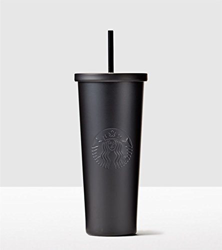 Starbucks Stainless Steel Cold Cup, 24 fl oz, Matte Black (Starbucks Cups With Straw compare prices)