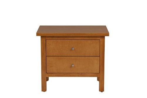 Urbangreen Furniture Hudson Low Nightstand Maple Amber Finished
