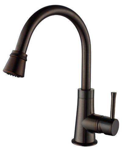 Kraus KPF-2220ORB Single Lever Pull Out Kitchen Faucet, Oil Rubbed Bronze