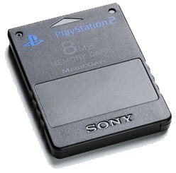 Playstation 2 Memory Card schwarz