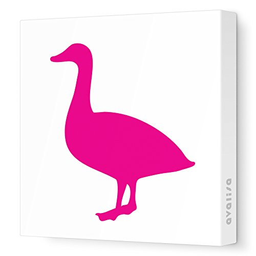 """Avalisa Stretched Canvas Duck Nursery Wall Art, Fuchsia, 18"""" X 18"""" front-989862"""