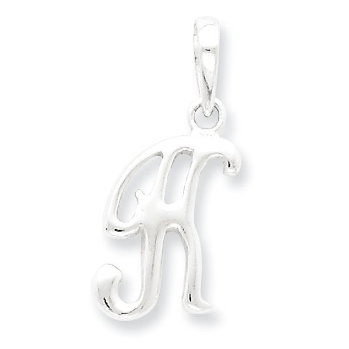 Sterling Silver Initial K Pendant