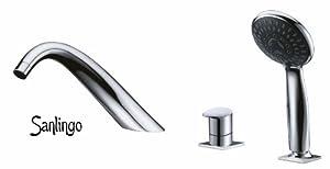 Design 3 Loch Armatur mit Handbrause für Badewanne Sanlingo Chrom ISEO Horn   Kundenbewertung und Beschreibung