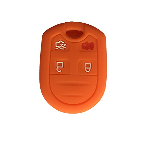 Ezzy Auto New Orange Key Fob Case Cover Skin Key Jacket Keyless Smart Jacket Cover Protector for Ford Expedition F150 F250-350 LINCOLN Navigator (F250 Edge compare prices)
