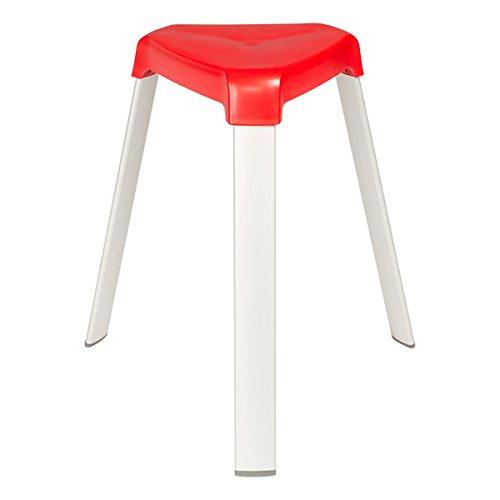 Norwood Commercial Furniture Nor Oah1000ac 3 Leg Plastic Stack Stools W Aluminum Legs 18
