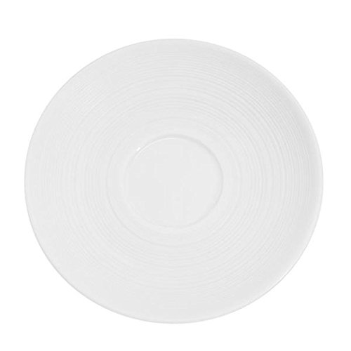Transitions Pattern 4 1/2 Inch White Saucers - Case Of 36