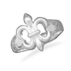 Fleur-de-Lis fashion ring. / Size 5
