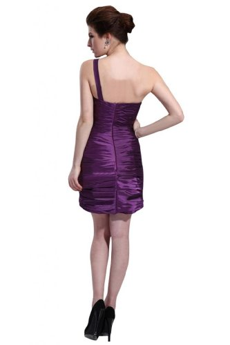 31oCNt5d35L Special Offers: Emma Y Lady Womens One Shoulder Sheath Short Dress
