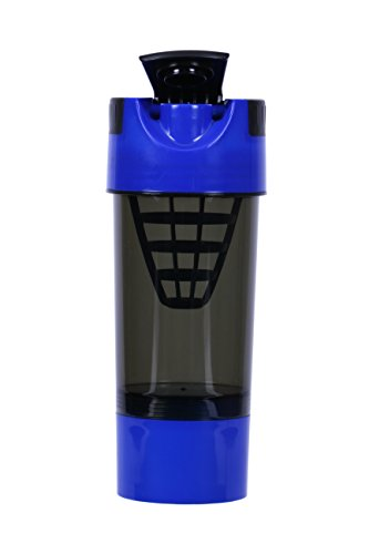 SM Nutrition Shaker Cup, Shaker Bottle, Blander Bottle, Protein Shaker, Cyclone Cup (Black And Blue)