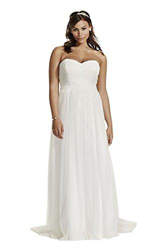 Novelty Dot Tulle Sweetheart Neck Plus Size Wedding Dress Style 9WG3438, Soft...