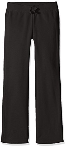 French Toast Girls' Big Girls' Fleece Pant, Black, 10/12 (Girls Yoga Pants compare prices)