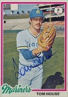 Tom House Seattle Mariners 1978 Topps Autographed Hand Signed Trading Card. by Hall+of+Fame+Memorabilia