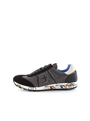 PREMIATA LUCY 1653 BLACK WHITE SNEAKERS Uomo BLACK WHITE 43