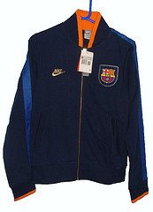 Nike Barcelona Full Zip Sweatshirt Xs Mens Navy