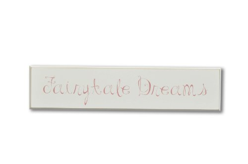 Homeworks Etc Fairytale Dreams Wood Sign, Ivory/Dark Pink
