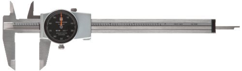 Brown & Sharpe 599-579-5 Dial Caliper, Stainless Steel, Black Face, 0-6 Range, +/-0.001 Accuracy, 0.001 Resolution, Meets DIN 862 Specifications by Brown & Sharpe (Brown And Sharpe 6 Dial Caliper compare prices)
